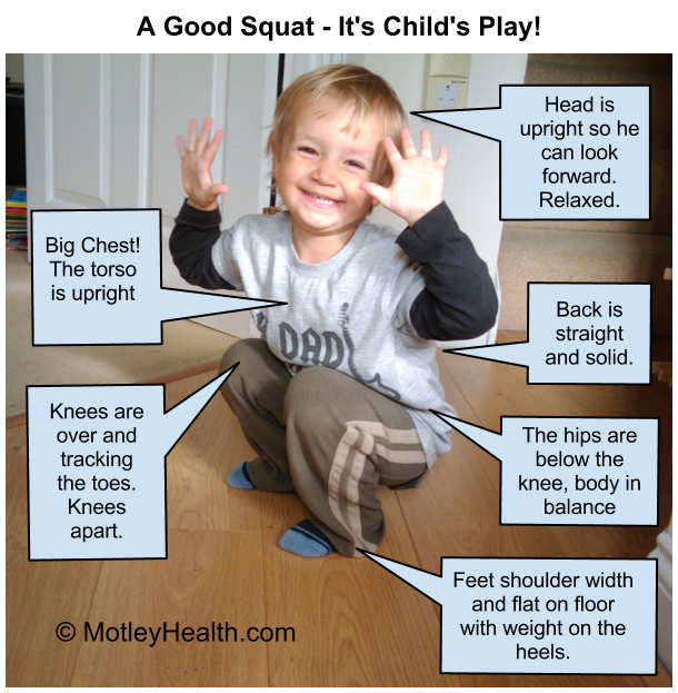 A Good Squat--It's Child's Play!